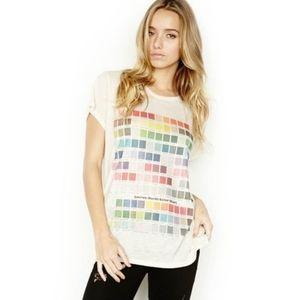 Lauren Moshi Briley Colors Open Back Tee